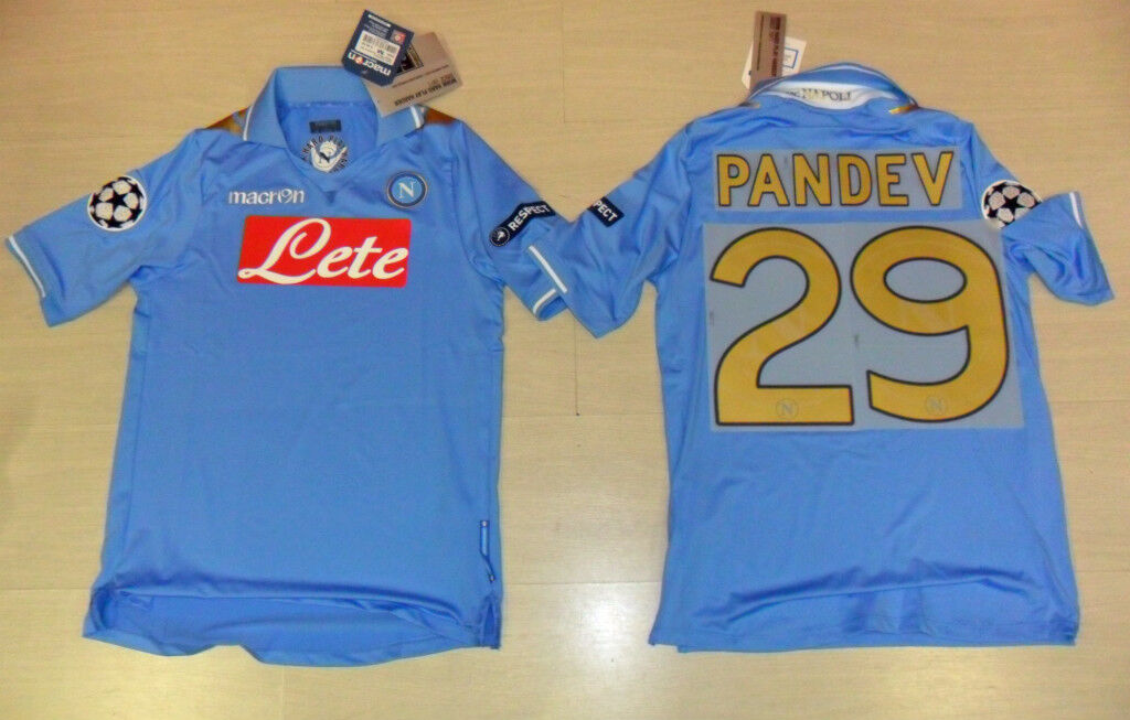 FUßBALL NAPOLI 2012 2012 2012 T-SHIRT PANDEV TG. M UEFA CHAMPIONS LEAGUE COPPA 6264af