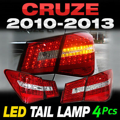 For CHEVROLET 2010 - 2014 Cruze Benz Style Rear Trunk LED Tail Light Lamp 4Pcs