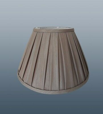 "ENYA BOX PLEAT 8"" SHADE IN MINK COLOUR FOR TABLE LAMP OR CEILING"
