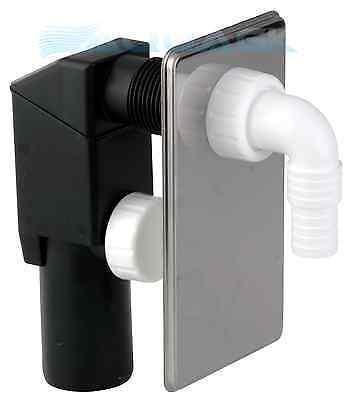 UP-Siphon 50mm Chrom Waschmaschinenablauf Gerätesiphon Unterputzsiphon