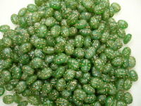 Czech Green Ladybug Glass 6mm X 8mm Loose Beads Approx 325 Beads