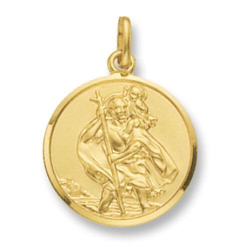 oro St. Christopher Pendant oro Saint Christopher Christopher Christopher 22mm c7dba1