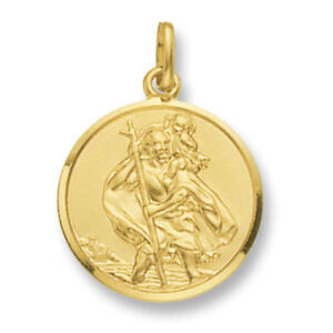 St-Christopher-Pendant-Gold-Saint-Christopher-22mm