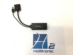 StarTech VGA2HDU VGA to HDMI Adapter with USB Audio Black