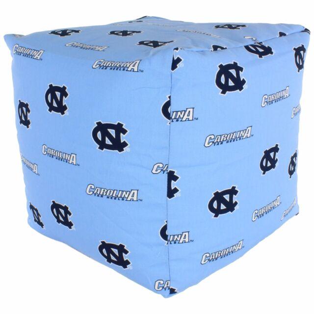 North Carolina Tar Heels Ncaa Licensed Cube Cushion Pouf Chair Bean Bag Ottoman