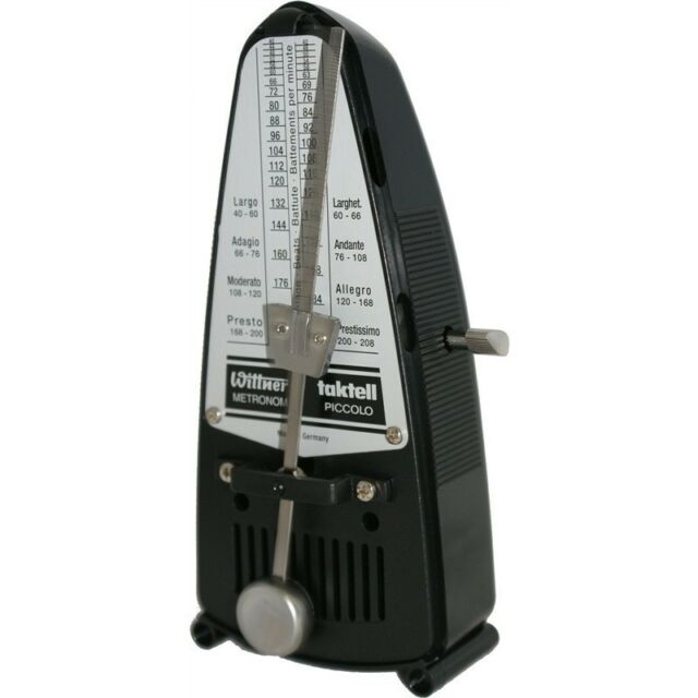 Black #836 New with Free Shipping Wittner Taktell Piccolo Keywound Metronome