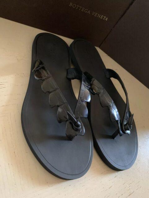 picked up latest design 50-70%off NIB $620 Bottega Veneta Men Crocodile Flip Flop Sandal Shoes Black 9 US/42  Eu