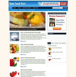 RAW-FOOD-DIET-WEBSITE-BLOG-WITH-AFFILIATE-STORE-FREE-DOMAIN-amp-HOSTING