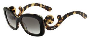 fc1864141236 Image is loading RARE-Genuine-PRADA-Square-Baroque-Black-Blonde-Sunglasses-