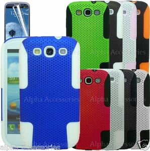 Hard-Mesh-Net-Perforated-Silicone-Skin-Hybrid-Case-Cover-For-Samsung-Galaxy-S3