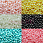 200-x-4mm-Glass-Beads-Pearl-Round-6-colours-hole-Jewellery-Making-Crafts thumbnail 1