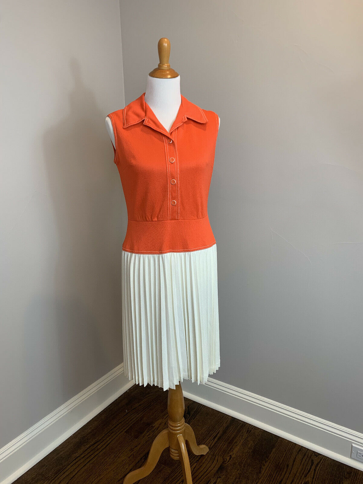 Sacony Ciella Vintage 60s Dress with 20s-30's Sty… - image 1