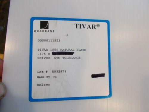 """NATURAL UHMW BAR machinable plastic flat sheet stock 1//8/"""" x 2/"""" x 48/"""" TIVAR 1000"""
