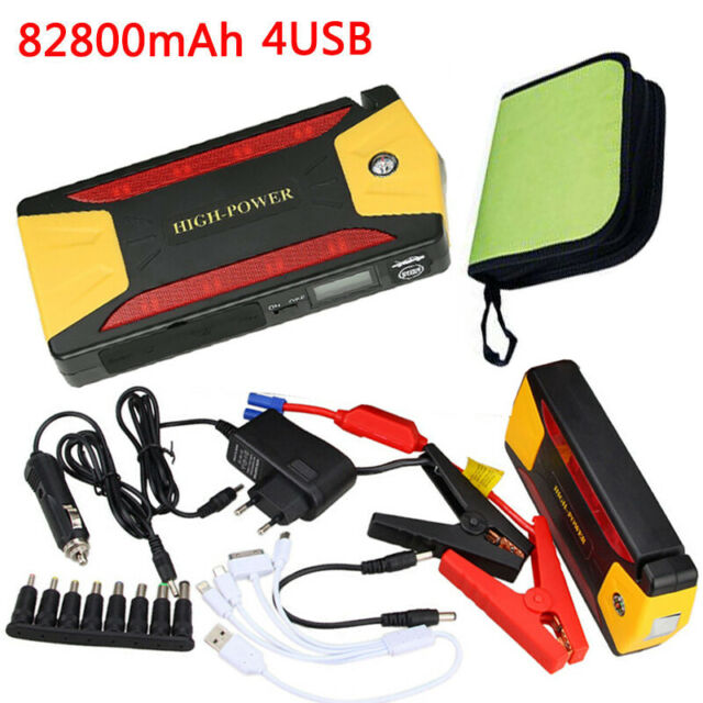 88000mah Portable Car Jump Starter 4 Usb Power Bankpack Booster Battery Charger