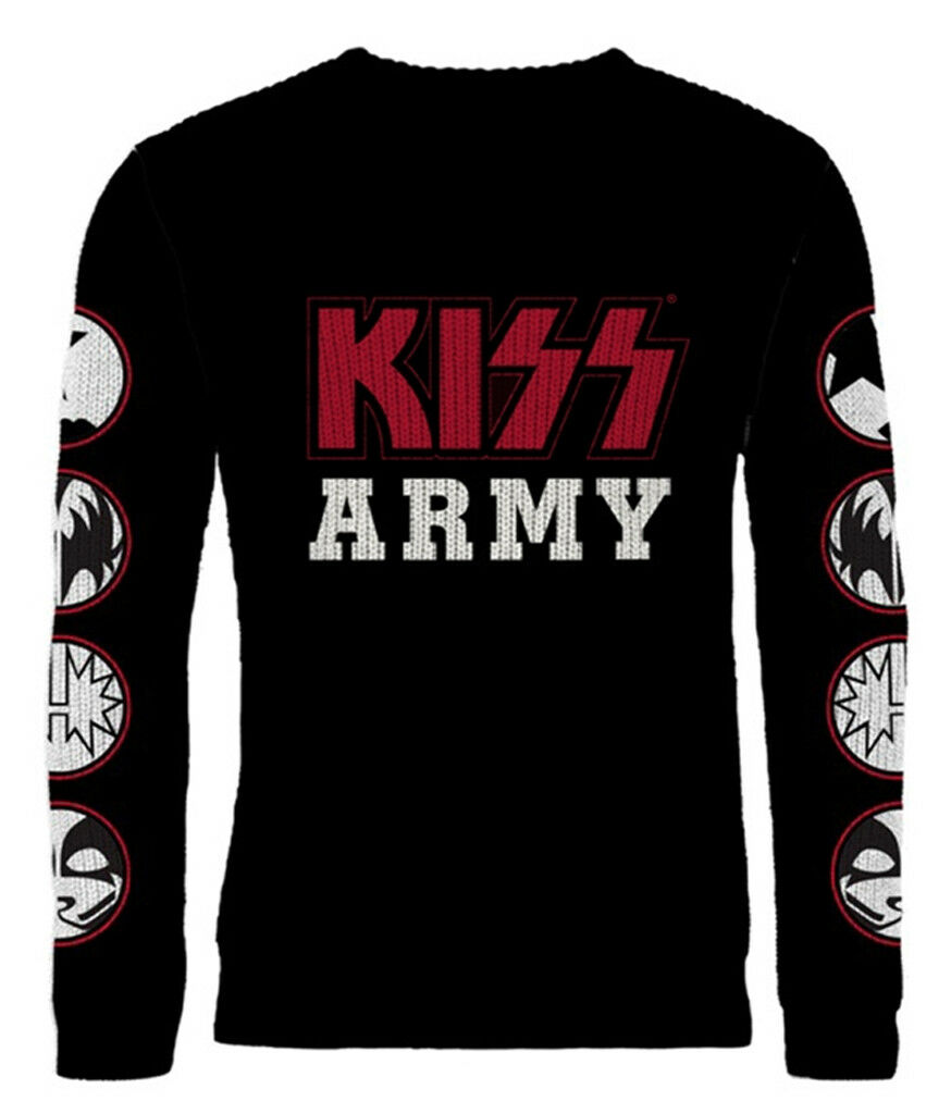 Kiss 'Kiss Army' Knitted Sweatshirt - Ultrakult Clothing - NEW & OFFICIAL