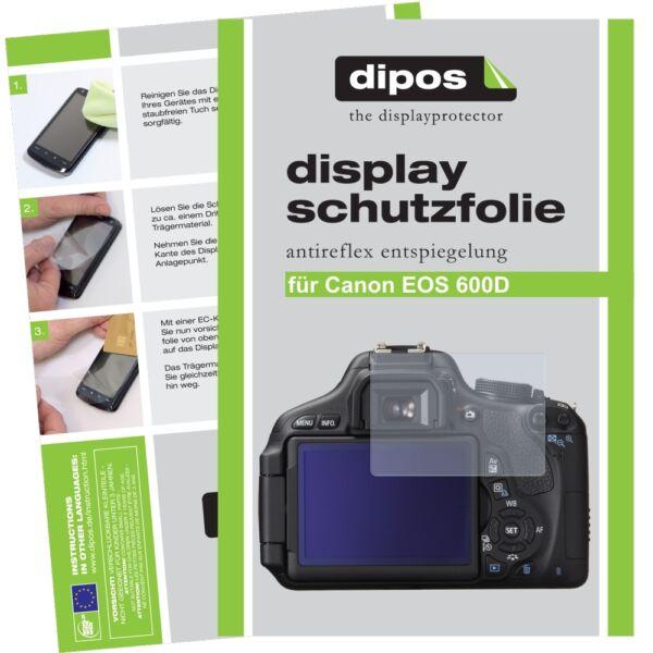 6x Canon Eos 600d Film De Protection D'écran Protecteur Antireflet Performance Fiable