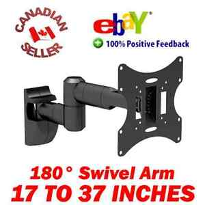 17-37-034-LCD-TV-Monitor-Wall-Mount-15-Tilt-180-Swivel-arm-19-21-22-24-26-27-32-034