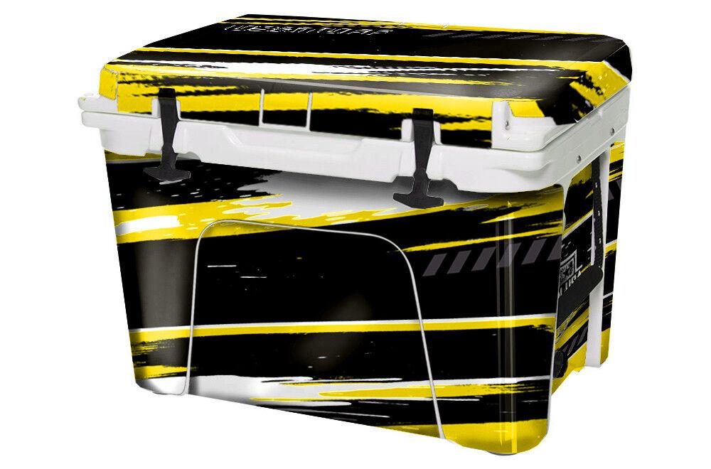 USATuff Custom Cooler Wrap Decal fits YETI Roadie 20qt FULL RZR SxS Yllw