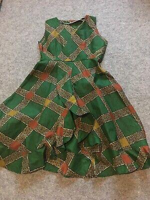 Diligente Donna Cotone Stampa Africana Abito, Ankara, Kitenge Casual/indossare Estivo Taglia 12-mostra Il Titolo Originale