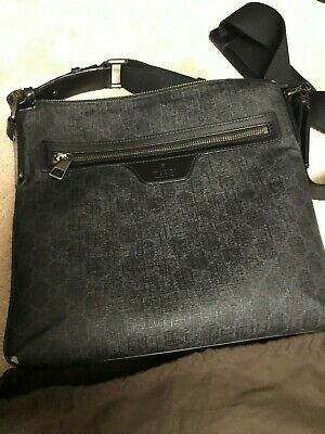 authentic best cheap so cheap GUCCI MEN'S NIGHT COURIER GG MESSENGER CROSS BODY BAG Italy-$525 from Italy  | eBay