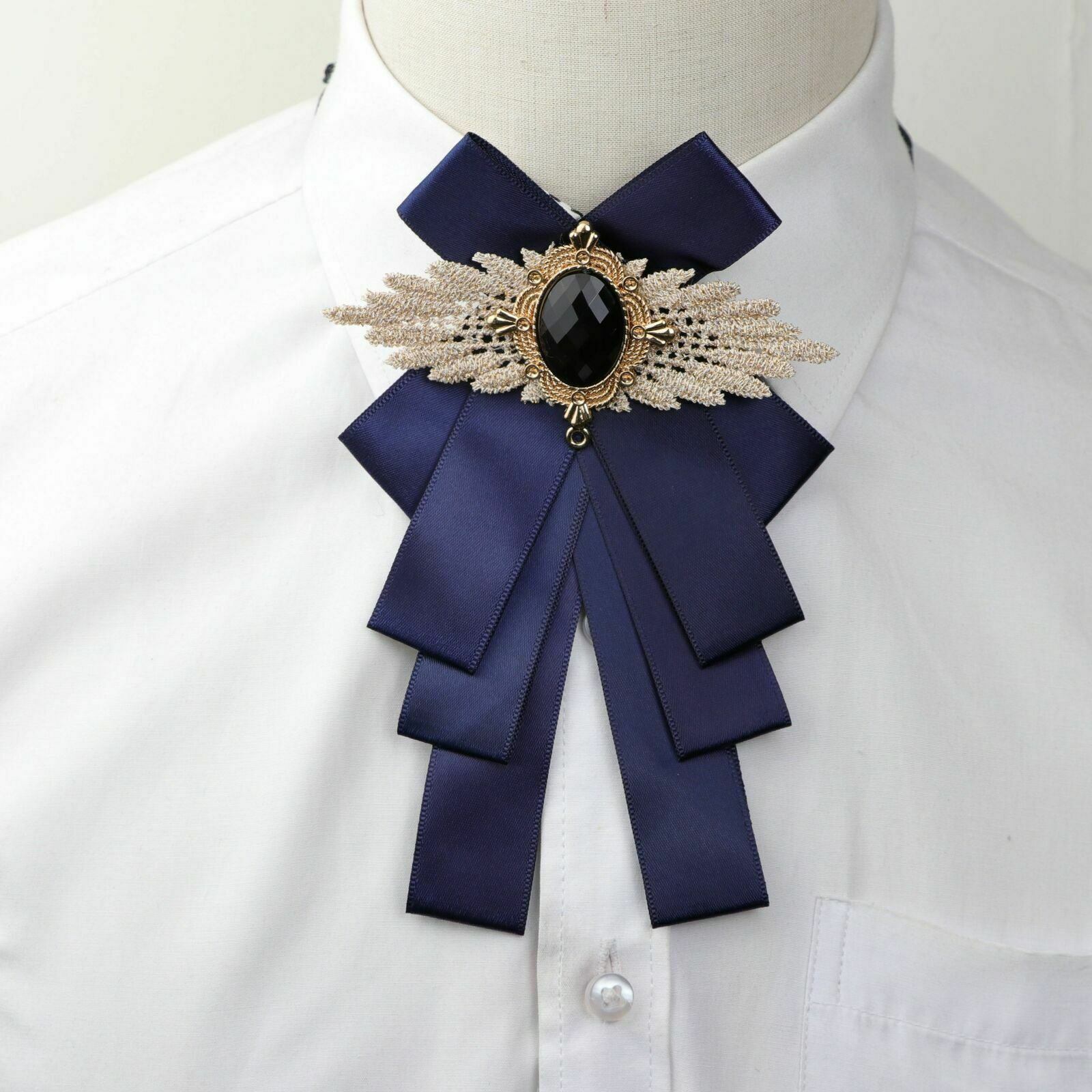 Fashion New Woman Big Bowtie Pretty Ribbon Solid Color Butterfly Bowknot Bow Tie
