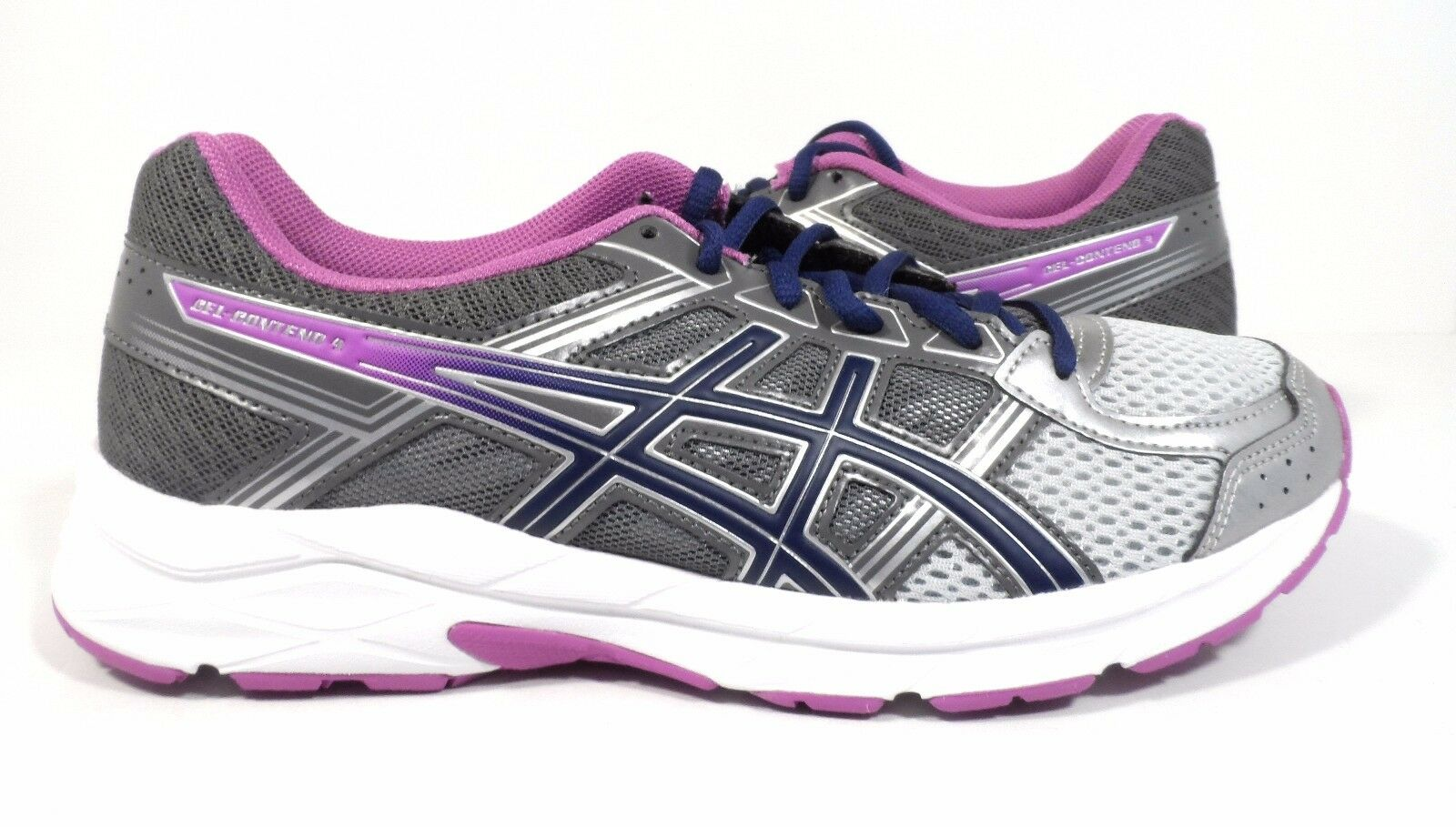 ASICS Women's Gel-Contend 4 Running shoes, Silver Campanula Carbon, 7.5 D (Wide)