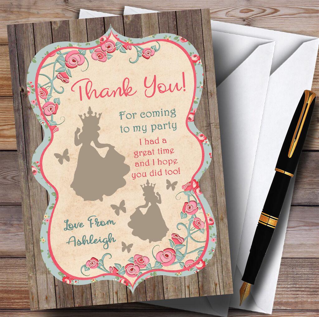Cartes Shabby Chic Woodland partie princesse partie Woodland Merci d59442