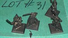 WOTC AEG Clan War metal Samurai warriors 4 clan ? bits lot #31 oop