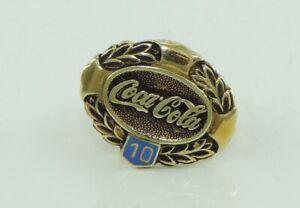 Coca-Cola-Pin-585er-Gold-14-Karat-Ehrennadel-fuer-10-Jahre