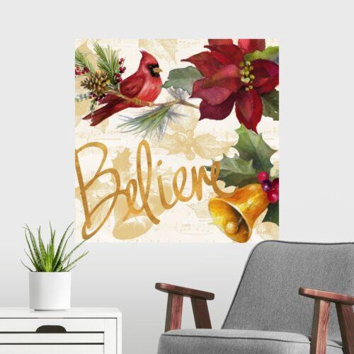 Christmas Poinsettia IV Poster Art Print Christmas Home Decor