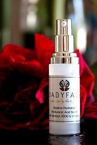 Babyface Massive Hydration Hyaluronic Acid Serum with Vitamin C & Matrixyl 3000 , 1.3 oz Pump Aubrey Organics - Treat Em Right Organic Lip Balm Vanilla & Honey - 0.15 oz.