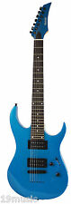 BERLIN by Quincy 7 string electric guitar BLUE metal Maple Neck metal fusion hot