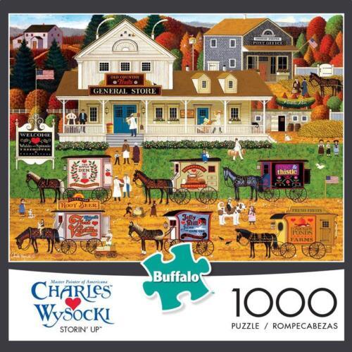 BUFFALO GAMES JIGSAW PUZZLE STORIN/' UP CHARLES WYSOCKI 1000 PCS #11455