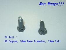 2pcs T4 Tall Neo Wedge Dash LED Bulbs(Amber/UV Purple)