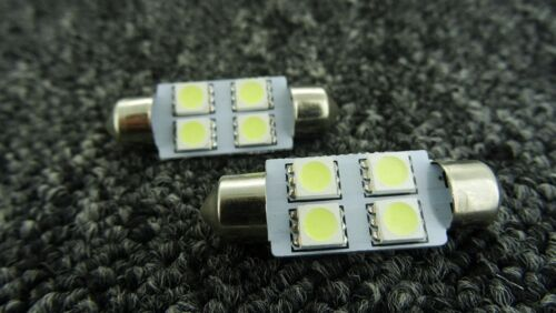 SEAT 39MM 4 SMD LED FESTOON CANBUS ERROR FREE WHITE NUMBER PLATE BULB 239