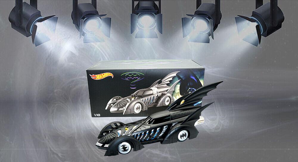 Hot Wheels 1 18 Scale BATMAN FOREVER BATMOBILE Diecast Model Car Collection