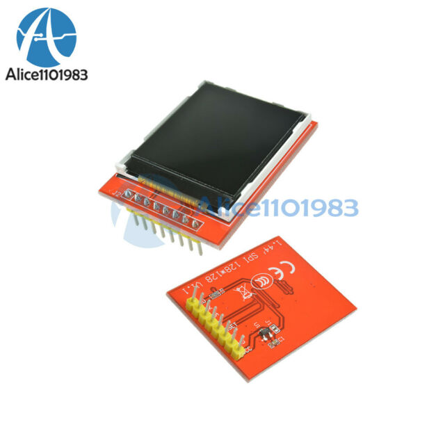 """5PCS 1.44"""" Red Serial 128X128 SPI Color TFT LCD Module Replace Nokia 5110 LCD"""
