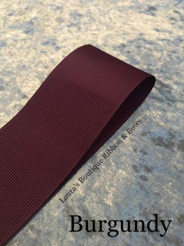 """50mm Grosgrain ribbon 2/"""" 1 3,5 /& 10 meter lengths various colours"""