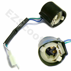 HEADLIGHT    BULB SOCKET IGNITOR    WIRE    BA20D GY6 CHINESE