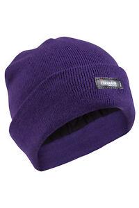 3M Black Thinsulate Chunky Beanie Hat Thermal Warm Ski Hats Unisex Fleece Winter