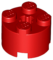 LEGO Parts NEW Pack of 10 Brick Round 2x2 with Axle Hole 3941 RED