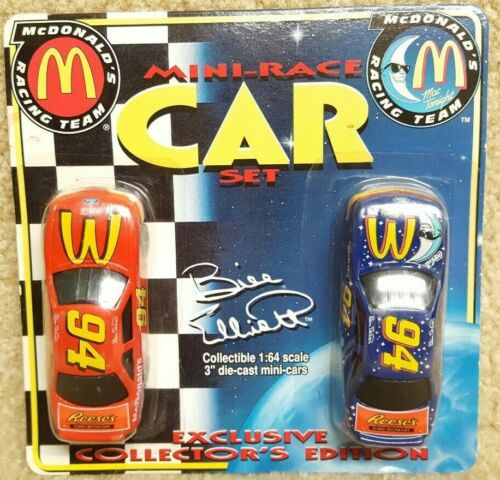 1999 Racing Champions 1:64 NASCAR Bill Elliott McDonald/'s Mac Tonight Ford Set