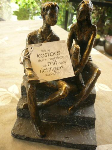 "Casablanca Design Skulptur /""Discussion/"" Art.89034 Geschenk Liebe Freunde TOP"