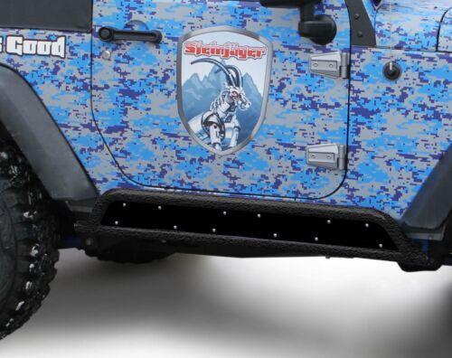BARE METAL  Phantom Rock Slider Insert Kit for Jeep Wrangler JK 07-18 2 Door