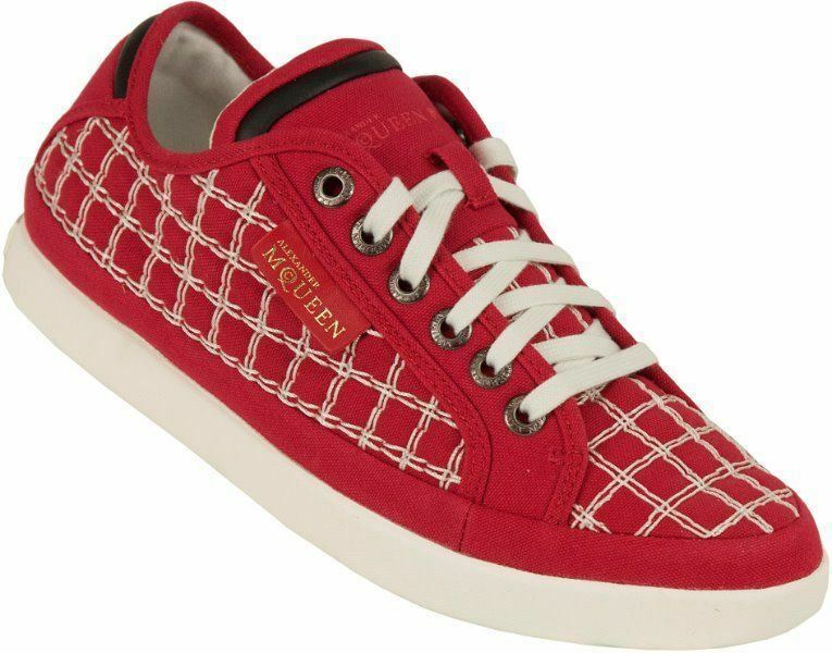 PUMA 14 Alexander McQueen Rabble Lo Crosshatch CHECK SZ 14 PUMA RED  295 RETAIL 3475e6