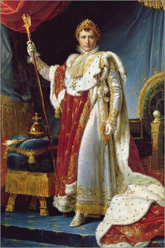 Acrylglasbild Napoleon I. in seinen Krönungskleidern - F. Gerard
