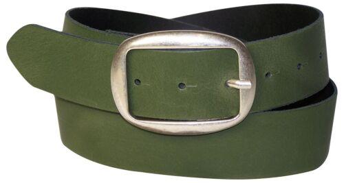 Fronhofer Femmes Ceinture Ovale Boucle de ceinture Altsilber tendance en cuir véritable ceinture