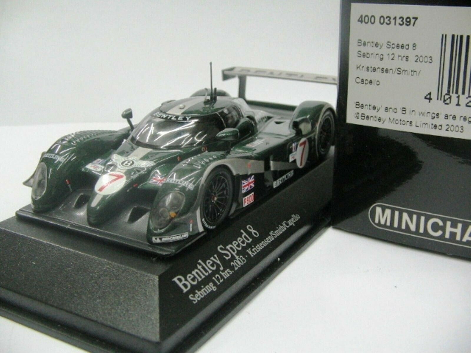 WOW estremamente raro Bentley EXP 8 2003  7 Vice vincitore 12h SEBRING 1 43 Minichamps