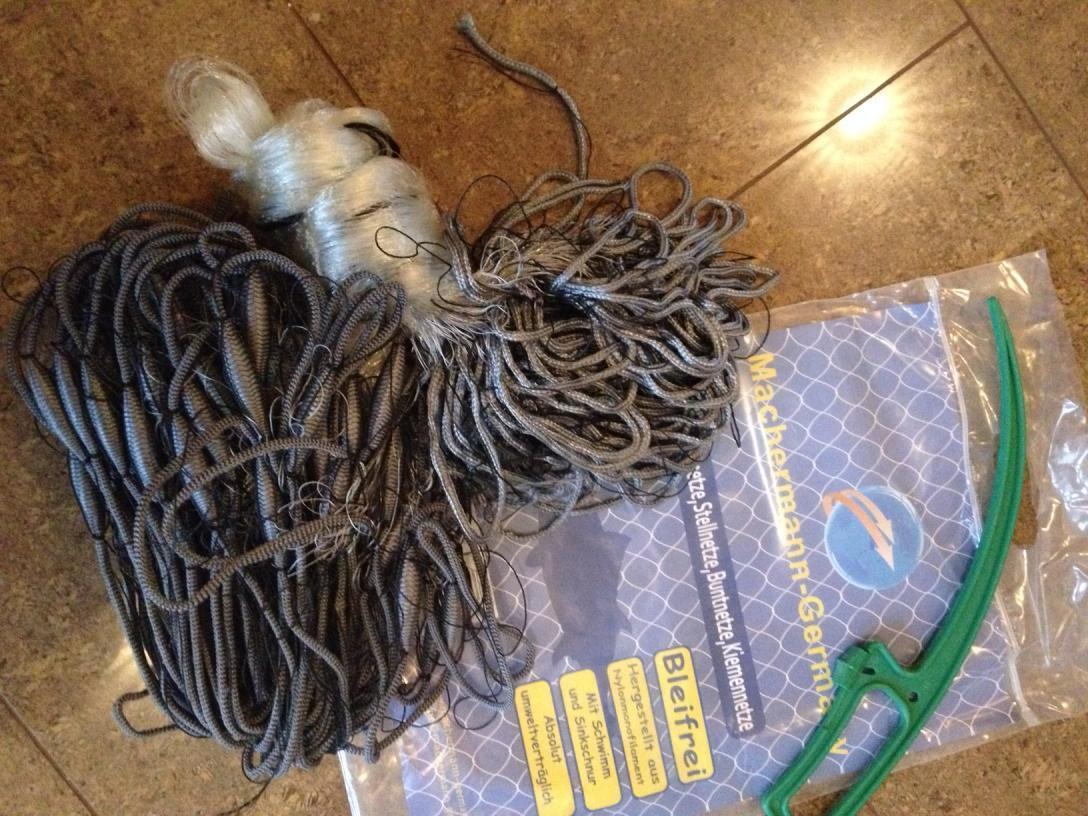 Stellnetz,Fischnetz Spiegelnetz,3 Wandig, Finland Netz 1,8x15 m,40 mm Top preis  | Moderater Preis