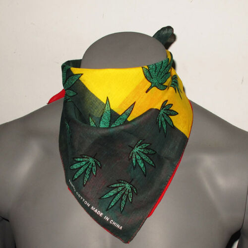 Bandana  Printing Camouflage  Marijuana Leaf Head Wrapped Scarf Handkerchief